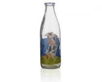 Láhev na mléko FUNNY COW 1 l, dekor 5