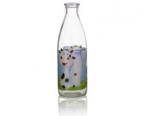 BANQUET Láhev na mléko FUNNY COW 1 l, dekor 7