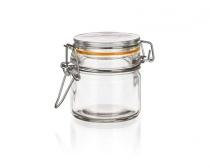 Dóza skleněná hermetická LINA 100 ml, oranžová