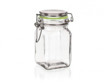 Dóza skleněná hermetická LINA 250 ml, zelená
