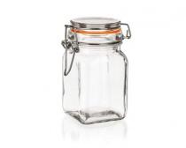 Dóza skleněná hermetická LINA 250 ml, oranžová