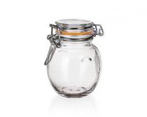 Dóza skleněná hermetická LINA 120 ml, oranžová