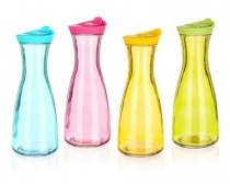 Láhev skleněná barevná MÍSTY 900 ml, assort