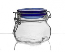 Dóza skleněná FIDO Blue 0,5 l