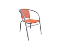 Křesílko ocelové textilen, oranžové