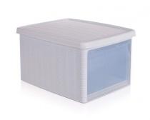 Multifunkční ratan box 15L bílý