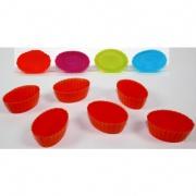 formička OVÁL silikon mix barev (6ks)