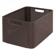 box úložný RATTAN 43,6x33x23cm (L), STYLE2, PH HN