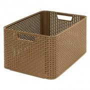 box úložný RATTAN 43,6x33x23cm (L), STYLE2, PH MOCCA tm.