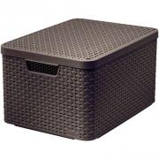 box úložný RATTAN 44,5x33x25cm (L) s víkem STYLE2, PH HN
