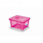 box úložný SCATOLA  2l, 19x16x10cm s víkem PH RŮŽ