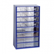 skříňka 2 velikosti  8s,4v 6754  30,5x55cm kov.