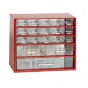 skříňka 3 velikosti 15m,2s,1v 6760  30,5x28cm kov.
