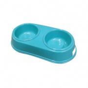 miska pro psa dvojitá 26,5x12,5cm PH mix barev