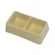 miska dvoumiska čtverce 165x90x50mm (malá) beton   (50)