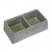miska dvoumiska čtverce 245x135x75mm beton   (86)