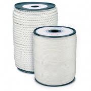 šnůra PA s duší 4mm BÍ pletená  (200m)