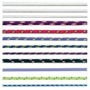 šnůra PES s duší 7mm barevná pletená (100m)