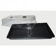 minipařeniště s ventilací 55x29x18cm, bez členění