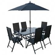 set zahradní Al SUNSET stůl + 6 židlí + slunečník zdarma