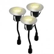 svítidlo LED zápustné pr.6,0cm, 0,4W, IP67 (3ks) do dřeva