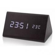 Dřevěný digitální LED budík WAC-027