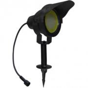 svítidlo LED 10W, 850lm, MR30, IP67, 3000K, Al ČER + stínítko