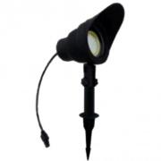 svítidlo LED 4W, 320lm, MR20, IP67, 3000K, PH ČER + stínítko