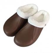 pantofle gumové zimní pánské vel. 45 mix barev (pár)