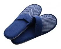 Pantofle pro hosty dámské (26-28 cm) a pánské (29-32 cm), beige, tmavě modré