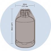 plachta krycí na plynovou lahev 15kg, pr.32x60cm, PE 90g/m2