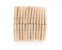 Sada dřevěných kolíčků na prádlo ECONOMY, 24 ks