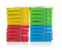 Sada plastových kolíčků na prádlo ECONOMY, 20 ks