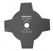 Riwall PRO Čtyřzubý nůž křovinořezu pr. 255mm, vnitřní průměr 25,4mm, tloušťka 1,4mm
