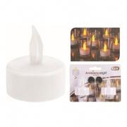 svíčka čajová LED pr.4,2cm BÍ (2ks) s bateriemi