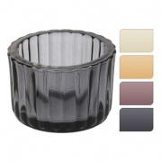 svícen sklo pr.5,5x3,7cm mix barev