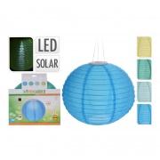 osvětlení LAMPION pr.28cm 1LED solární, nylon mix barev (1ks)