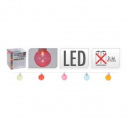 osvětlení LAMPIONY pr. 4cm 10LED řetěz mix barev