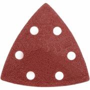 DEDRA Brusný papír trojúhelníkový s otvory; zrnitost 40, 80, 120, pro oscilační brusku DED7945, 3ks DED79457
