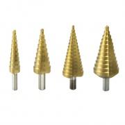 DEDRA Stupňovitý vrták HSS/TiN 4-12mm do kovu a plastu WMST0412