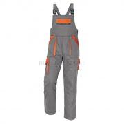 MAX kalhoty lacl 260g šedá/oranžová