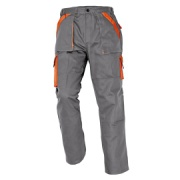 MAX kalhoty 260 g/m2 šedá/oranžová