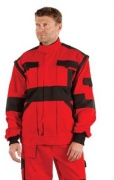 MAX bunda 260 g/m2 červená/černá