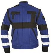 MAX bunda 260 g/m2 modrá/černá prodloužené