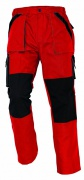 MAX kalhoty 260 g/m2 červená/černá