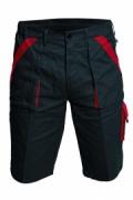 MAX šortky 260 g/m2 šedá/červená