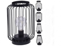 lampa 8LED 22x13cm kov ČER mix