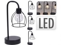 lampa 8LED 25x8x12cm kov ČER mix