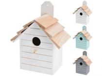 budka ptačí zahnizďovací 16x22x11cm dřevěná mix barev