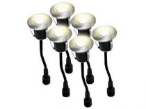 svítidlo LED zápustné pr.4,5cm, 0,2W, IP67 (6ks) do dřeva